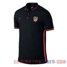 Camiseta polo Atletico Madrid 2016 negro