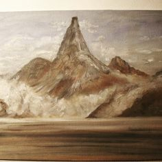 Stetind - Norway's national mountain (Oil on fiberboard)