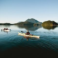 condenasttraveler: Kayaking in Clayoquot Sound, British Columbia. Photo by @Jeremy Koreski