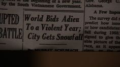 Front page headline from January 1, 1968 New York Times, as seen in Season 6 Episode 1 of Mad Men