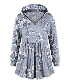 Liven up your lazy-day looks with this floral hoodie accented by a flowy flared hemline. The long cuffed sleeves and drawstring hood provide extra options for warmth on chilly days. Cuff Sleeves, Hemline, Hoods, Hooded Jacket, Tunic, V Neck, Shirt Dress, Coat, Mens Tops