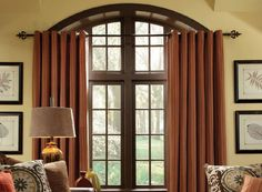 Grommet style drapery panels from Carole Fabrics. Decor, Drapery Panels, Drapery, Curtains, Paneling, Fabric, Home Decor
