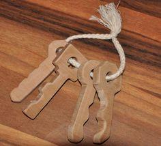 baby wooden toy keys