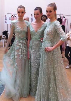 Models backstage at Elie Saab Couture Spring 2012 - themodernblonde.com