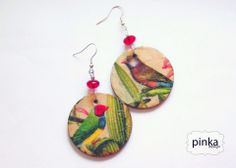 Madaras nyár, PinkaDesign, meska.hu Jewelry Making, Drop Earrings, Wood, Handmade, Design, Hand Made, Woodwind Instrument, Drop Earring, Wood Planks