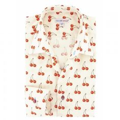 Cherry Print Fruit Shirt