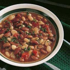 Ok, This might sound weird. but I was thinking of this bean soup over a baked potato.  Again, sounds weird but I kinda want to try it.  Not to mention the soup looks really good!