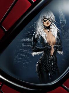 The Spider-Web Spiderman Black Cat, Black Cat Marvel, Spiderman Art, Marvel Women, Marvel Girls, Comics Girls, Marvel Comic Universe, Marvel Comics Art, Marvel Heroes