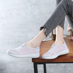 Comfortable Women's Pink Running Shoes Casual Sports Shoes Hui Li Sneakers you best choice for School, Going out -TOP Design by FSJ Flat Shoes, Oxford Shoes, Leather Shoes, Denim Shoes, Summer Boots, Pink Running Shoes, Long Boots, Canvas Sneakers, Sport Casual