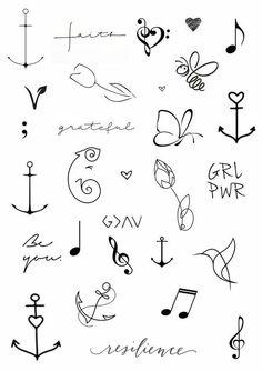 mini tattoos with meaning * mini tattoos . mini tattoos with meaning . mini tattoos for girls with meaning . mini tattoos with meaning for women Kritzelei Tattoo, Doodle Tattoo, Tattoo Drawings, Tattoo Bird, Tattoo Flowers, Tattoo Flash, Tattoo Quotes, Tattoo Fonts, In Ear Tattoo