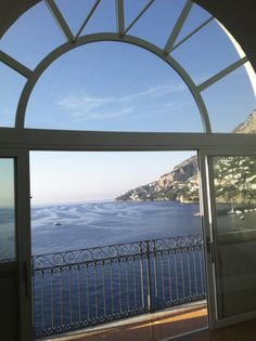 The view from the elevator of Hotel Luna Convento, Amalfi, Italy
