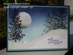 Stamp Sets: Best Yet, Lovely As a Tree Card Stock: Night of Navy, Baja Breeze… 3d Christmas, Homemade Christmas Cards, Christmas Tree Cards, Stampin Up Christmas, Xmas Cards, Handmade Christmas, Homemade Cards, Holiday Cards, Stampin Up Weihnachten