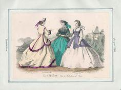 Cendrillon, August 1865. LAPL Visual Collections.  Civil War Era Fashion Plate