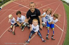 Happiness and strength comes from within, notice: 5 kids (2 legs, 8 prosthetics) 5 SMILES. What did you share today? #oscarpistorius