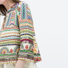 chaqueta etnica vendida!!! Zara a estrenar por 110,00EUR en The Market - Trendtation