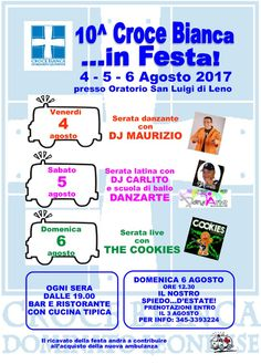 Croce Bianca in Festa a Leno  http://www.panesalamina.com/2017/57470-croce-bianca-in-festa-a-leno-2.html