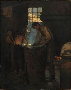 P S Krøyer 1880 - Italienske landsbyhattemagere - PS Krøyer - Wikimedia Commons