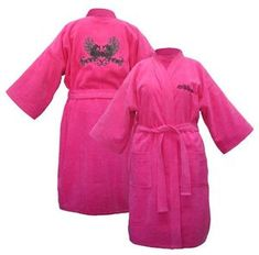 Harley Davidson® Womens Pink Bath Robe 100 Cotton Luxurious Motorcycle 4746HI | eBay