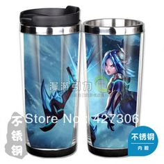 League of Legends LOL Frostblade Irelia Stainless Steel Coffee Cup Free Shipping