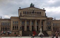 Architecture, old building, Konzerthaus, sculpture, column, Berlin Germany