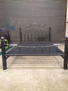 New Steel Furniture Design Bed Frames 39 Ideas Pallet Furniture Daybed, Welded Furniture, Iron Furniture, Steel Furniture, Custom Furniture, Furniture Design, Industrial Bed Frame, Industrial Style Furniture, Steel Bed Design
