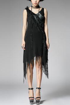 Me Want:  Punk Style Irregular Hem Dress OASAP.com