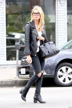black on black ashley benson look street style Mode Outfits, Fall Outfits, Casual Outfits, Outfit Winter, Casual Clothes, Short Girl Fashion, Womens Fashion, Short Girl Style, Look 2015