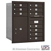 4C Horizontal Mailboxes - 10 MB1 Doors / 1 PL6 - Double Column - by Salsbury Industries. $911.46
