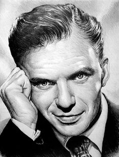 Young Frank Sinatra pencil drawing sold to a Australian client