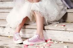 I'm totally gonna wear sneakers at my wedding ;) Cute/quirky/lace/pink/bridal/gown/fashion
