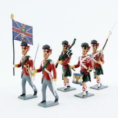 Highlanders 42e rgt ''Black Watch'' (époque Empire napoléonien) (ref. CBG 0076D) Empire, Highlanders, Watch, Black, Soldiers, Clock, Black People, Bracelet Watch, Clocks