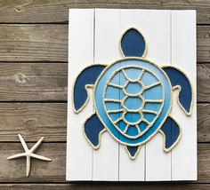 Handmade Turtle with Rope© Beach Pallet Art Coastal Decor Rope Art Turtle Art Pallet Art Beach Cottage Style, Coastal Cottage, Beach House Decor, Coastal Style, Coastal Decor, Coastal Entryway, Coastal Rugs, Coastal Bedding, Coastal Furniture