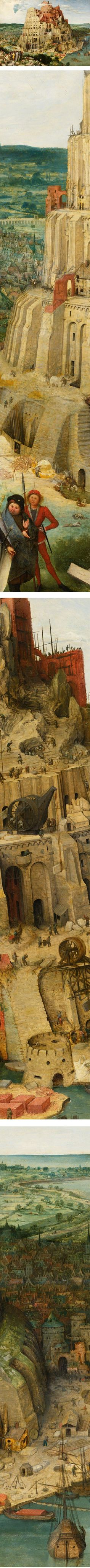 Tower of Babel, by artist Pieter Bruegel the Elder.  Art appreciation for history
