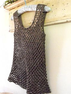 Crocheted Top - DROPS Design free pattern