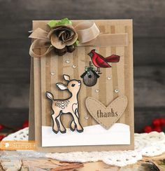 September 2014 New Release - Day One. Card by Laurie Schmidlin featuring Little Deer stamp set.  More Design Team Inspiration here - http://wmsinspiration.blogspot.co.uk/2014/09/september-2014-new-release-previews-day.html Store - www.waltzingmousestamps.com