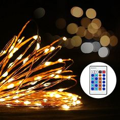 Noza Tec Starry002 Warm Waterproof 100 LEDs Copper Wire Starry String Lights UL Certified Adapter with Remote Indoor and Outdoor Dcor White * Check out this great product.