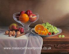 fruits on a table still life painting by philip