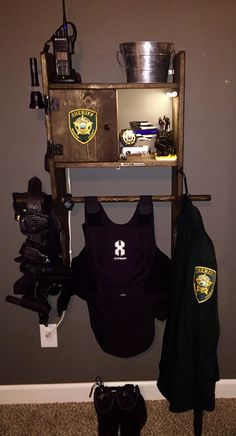 26 best police gear stand images in 2016 police gear stand cop wife police gifts. Black Bedroom Furniture Sets. Home Design Ideas