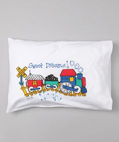 Loving this Train Personalized Toddler Pillow on #zulily! #zulilyfinds