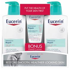Eucerin Intensive Repair Lotion - 21 Fl. Oz. 2 pack -- Learn more by visiting the image link. (This is an Amazon Affiliate link and I receive a commission for the sales)