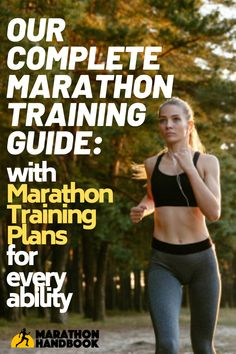 This awesome marathon training guide got me through my first marathon - it includes a bunch of free marathon training plans! Marathon Tips, First Marathon, Half Marathon Training, Marathon Running, Training Plan, Running Training, Training Equipment, Running Humor, Running Motivation