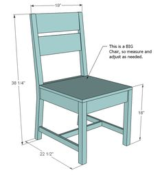 DIY Farmhouse kitchen Chairs: Step-by-step building plans | DIY ...