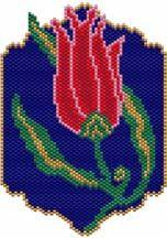 Ottoman Tulip Pattern by Sigrid Wynne-Evans at Bead-Patterns.com