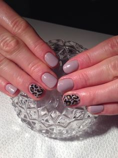 Leopard Accent Finger- Nails By Me!