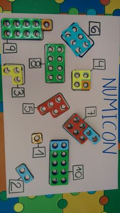 Numicon- using pieces to show decomposition of numbers Maths Eyfs, Eyfs Classroom, Math Literacy, Preschool Math, Kindergarten Math, Fun Math, Teaching Math, Math Education, Numicon Activities