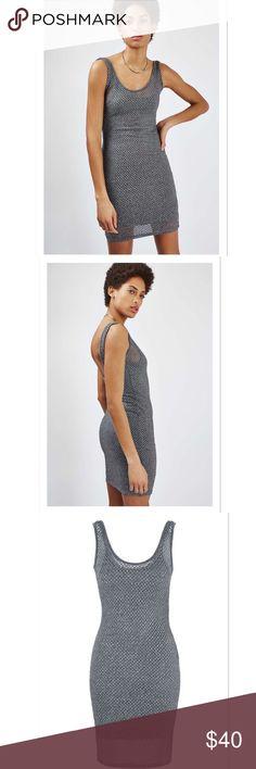 Silver/Gray Topshop Dress Silver/Gray Mesh Dress by Topshop. Built in bodycon dress. BNWT Topshop Dresses Mini