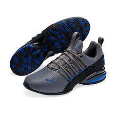 Puma Axelion Mens Training Shoes Lace-up - JCPenney Mens Puma Shoes, Puma Sneakers, Shoes Men, Shoes Sneakers, Classic Sneakers, All Black Sneakers, Mens Casual Leather Shoes, Popular Sneakers, Mens Training Shoes