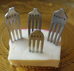 Recicla tus cubiertos, marcadores de queso