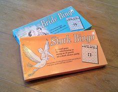 Vintage Stork Bingo - 1957 - Baby Shower Game by theindustrycottage on Etsy