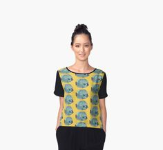 """""""Butterflyfish, coral reef fish, underwater, nautical"""" Chiffon Tops by clipsocallipso 